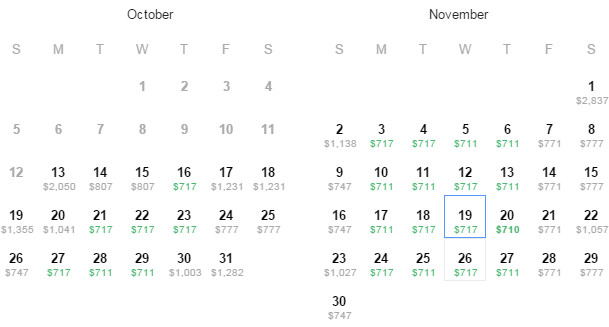 Flight Availability: Dallas to Paris as of 3:55 PM on 10/13/14