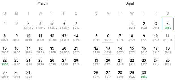 Flight Availability: Dallas to Hong Kong as of 12:17 PM on 03/03/2015.
