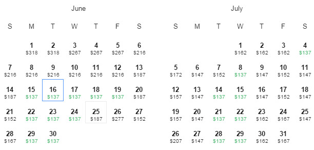 Flight Availability: Dallas to Cleveland as of 4:39 PM on 5/23/15.