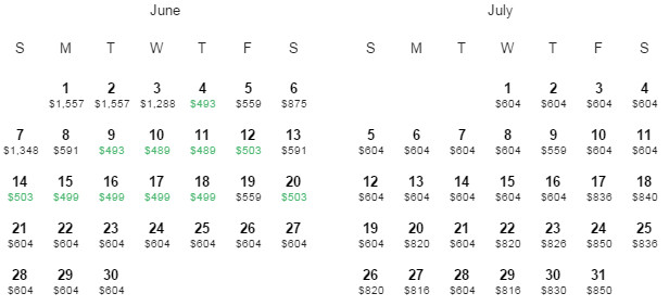 Flight Availability: Dallas to Sao Paulo as of 5:57 PM on 5/28/15.