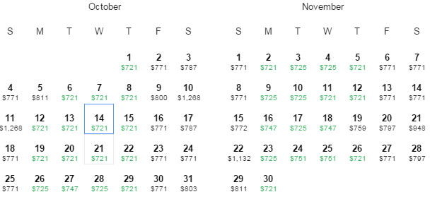 Flight Availability: Dallas to Madrid as of 12:56 PM on 6/8/15.