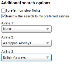 Orbitz: You must specify your airline to get this to price correctly.
