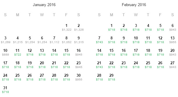 Flight Availability: Dallas to Madrid as of 10:32 AM on 11/20/15.