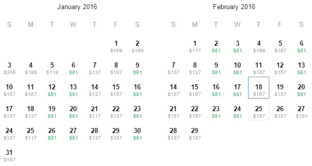 Flight Availability: Dallas to Chicago as of 12:24 PM on 11/27/15.