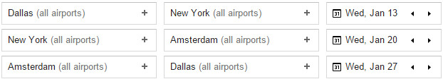 This is an example of setting up an itinerary to make use of the free NYC stopover.