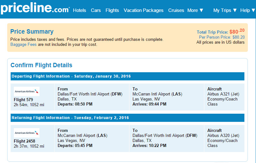 airline tickets to vegas southwest