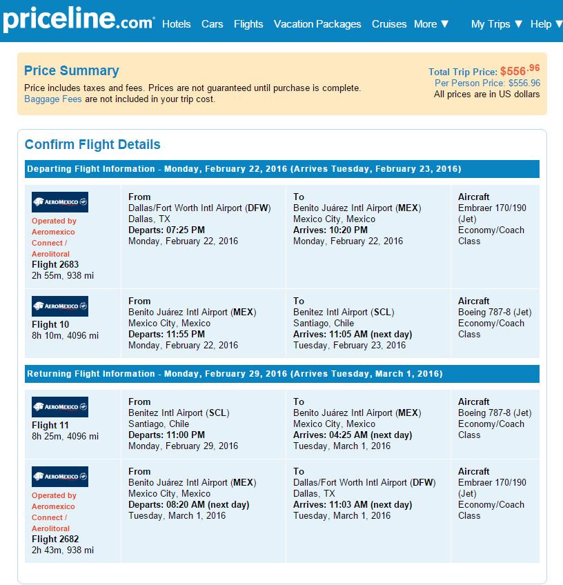 Cheap Flights Dallas To Santiago Chile 556 R T Aeromexico