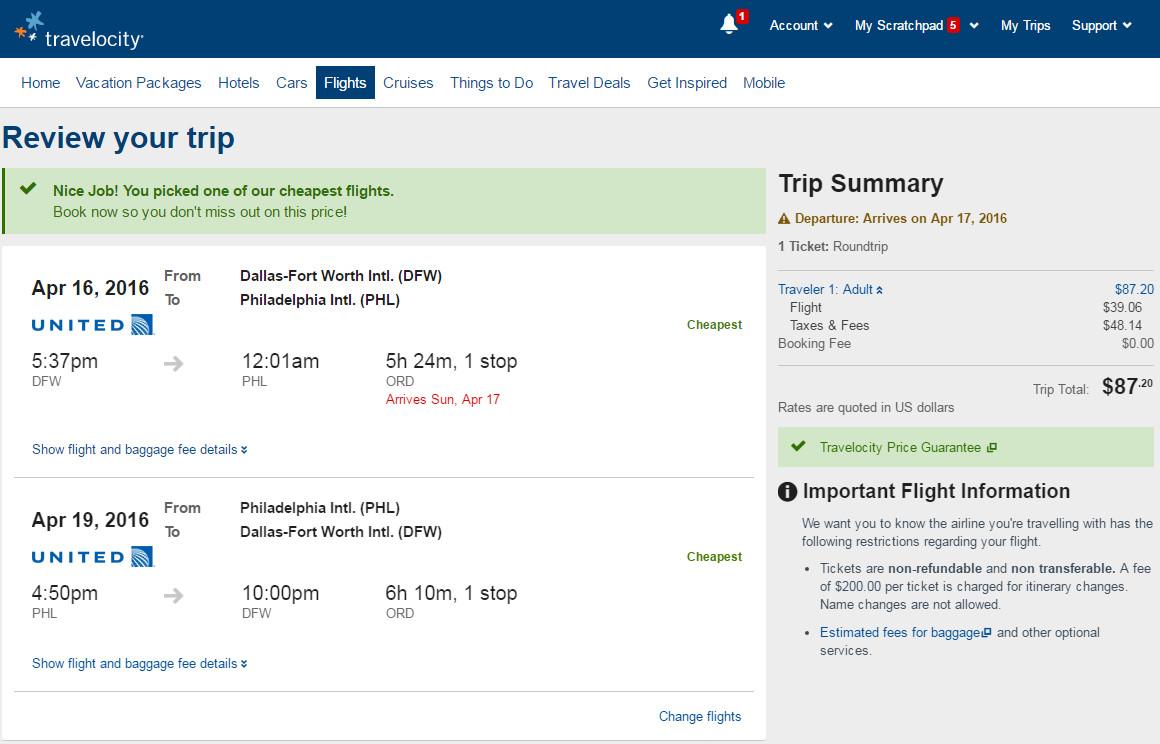 Cheap Flights Dallas To From Philadelphia 88 R T United