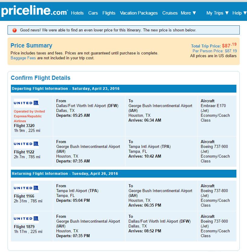 Priceline express deals coupon september 2018