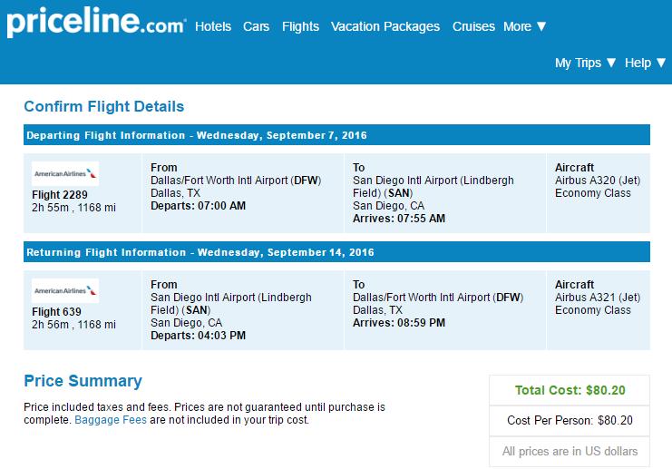 Cheap flights from Dallas, TX (DFW) to San Diego, CA (SAN ...