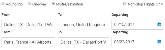 Flights Dallas To Amsterdam London Paris Madrid R - Chunnel tickets london to paris