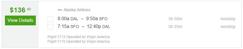 Nonstop Flights Dallas To San Francisco 137 R T Virgin
